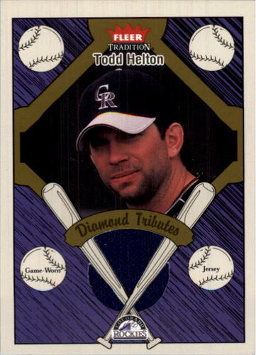 Photo of 2004 Fleer Tradition Diamond Tributes Game Jersey #TH Todd Helton