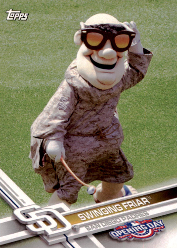 Photo of 2017 Topps Opening Day Mascots #M13 Swinging Friar