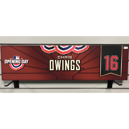 Photo of 2018 Chris Owings Opening Day Nameplate