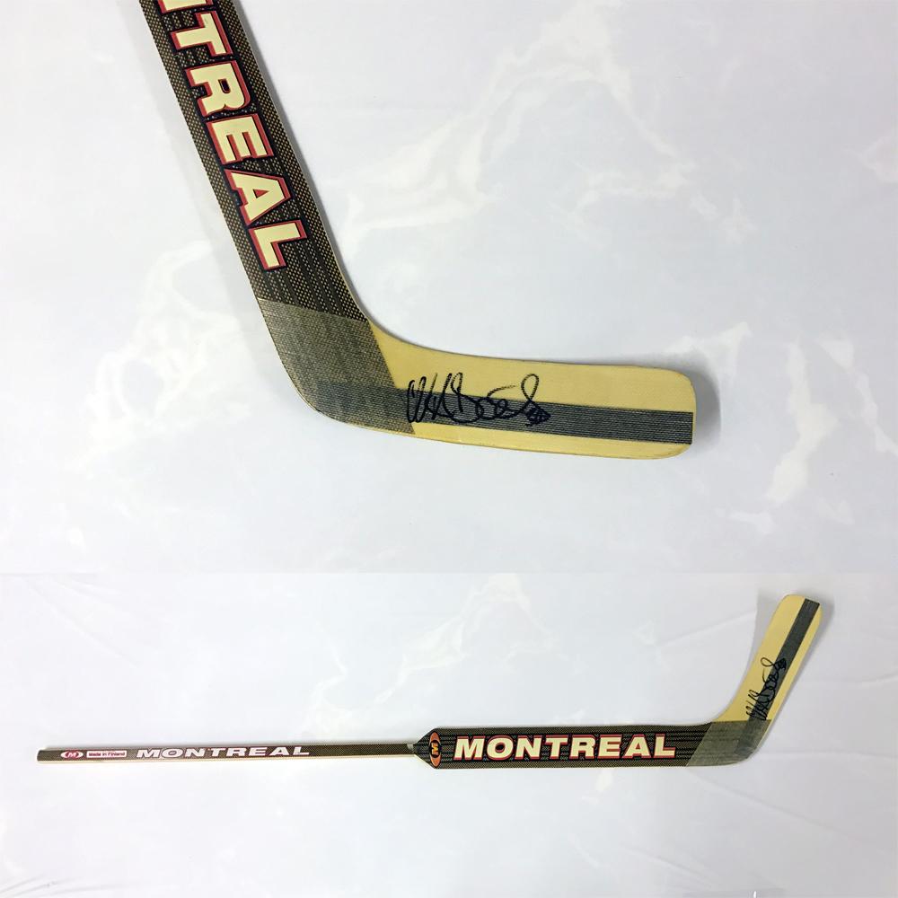 NIKLAS BACKSTROM Signed Montreal Stick - Minnesota Wild