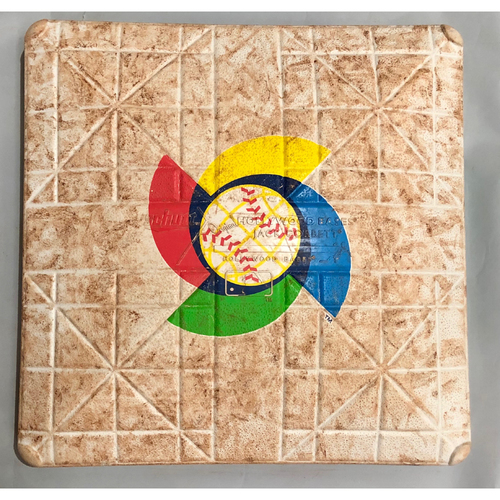 Photo of 2017 World Baseball Classic Game Used Base- 2nd Base (Puerto Rico at Mexico)