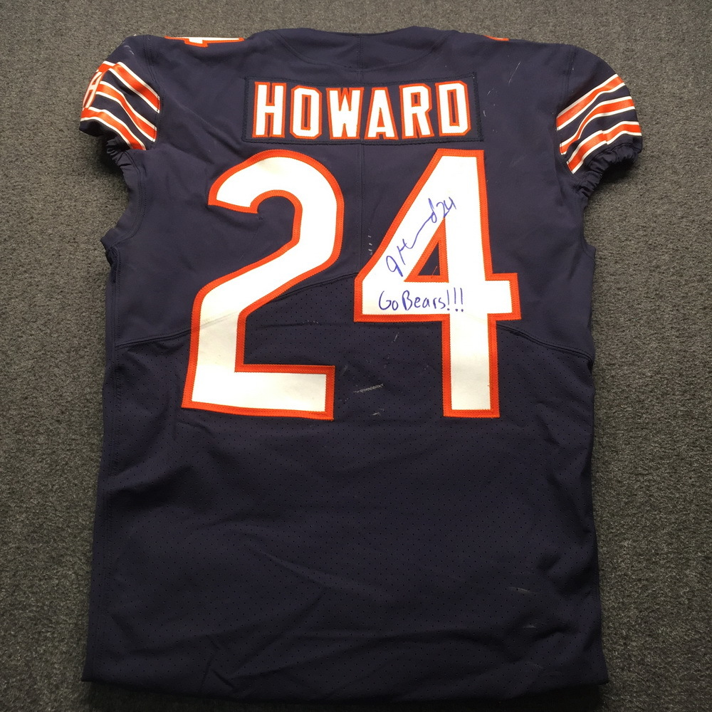 release date 35bb2 706b0 NFL Auction | STS - Bears Jordan Howard Signed and Game Used ...