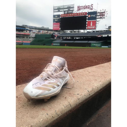 Photo of Autographed Trea Turner Gold Left Cleat