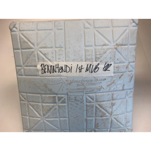 Game-Used Base: Andrew Benintendi 1st MLB Home Run