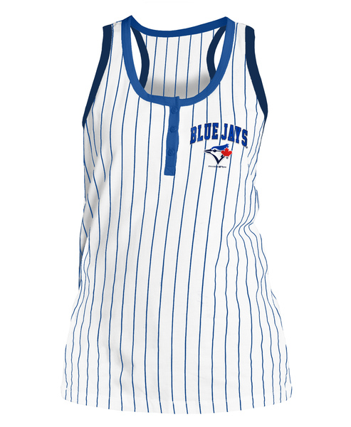 Toronto Blue Jays Women's Pinstripe Racerback Tank Top by 5th and Ocean