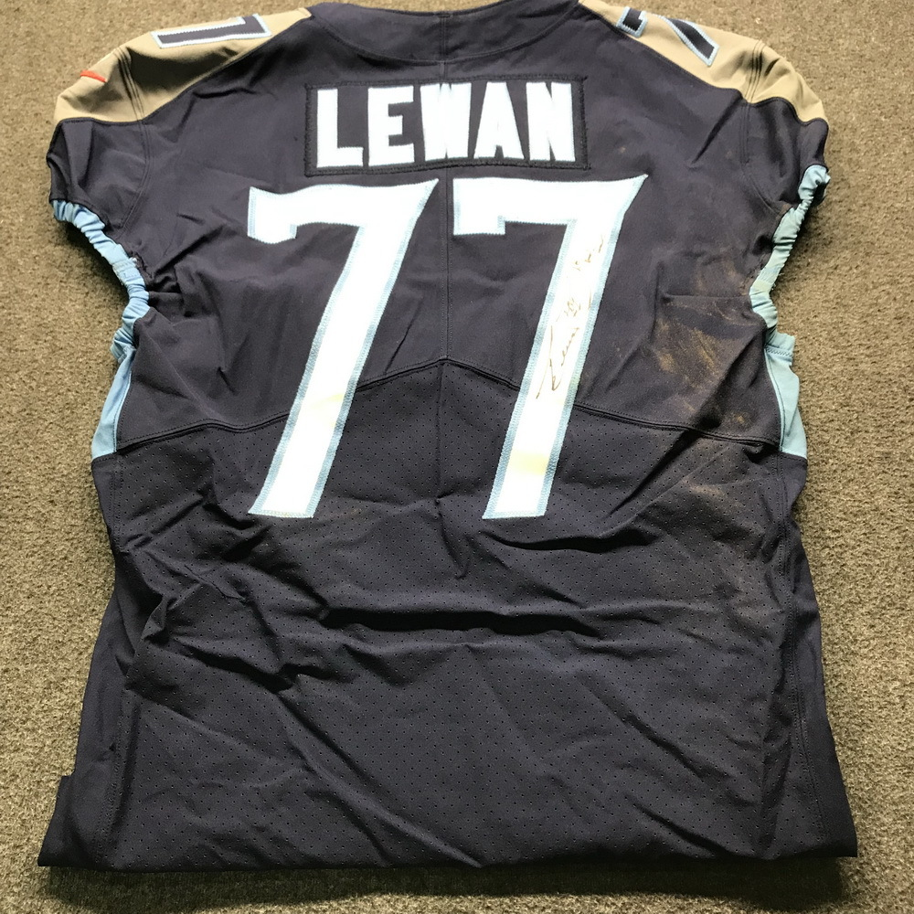 NFL Auction | Crucial Catch - Titans Taylor Lewan Signed and Game ...