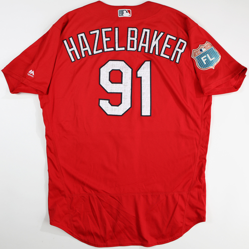 Photo of 2016 Spring Training - Spring Training Game Used Jersey - Jeremy Hazelbaker (Cardinals)- Size- 48