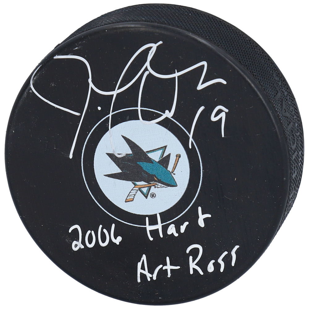 Joe Thornton San Jose Sharks Autographed Hockey Puck with