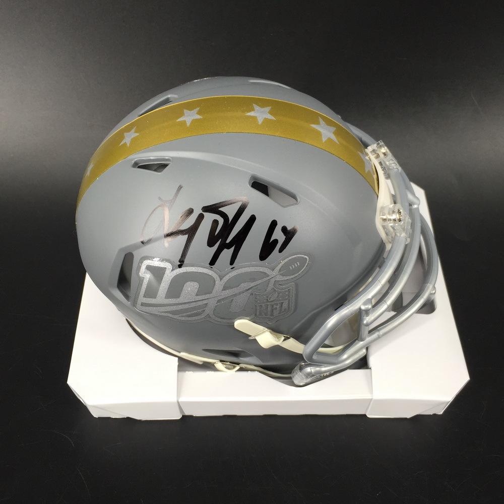 NFL - Saints Larry Warford Signed Pro Bowl Mini Helmet