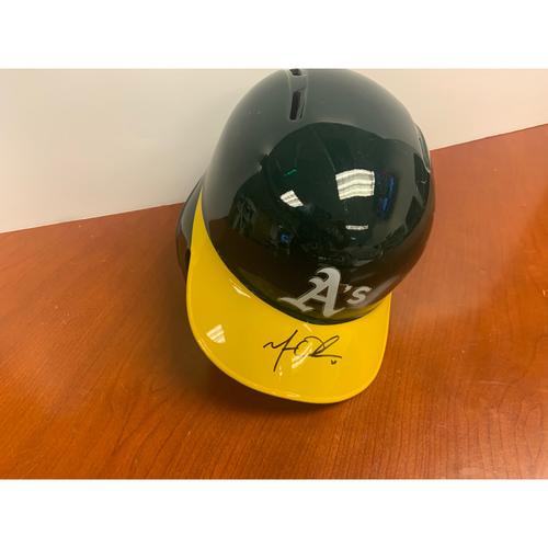Oakland A's Community Fund: Matt Olson Autographed Helmet
