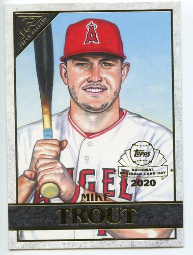Photo of 2020 Topps Chrome Topps Gallery Preview #GP1 Mike Trout --National Baseball Card Day