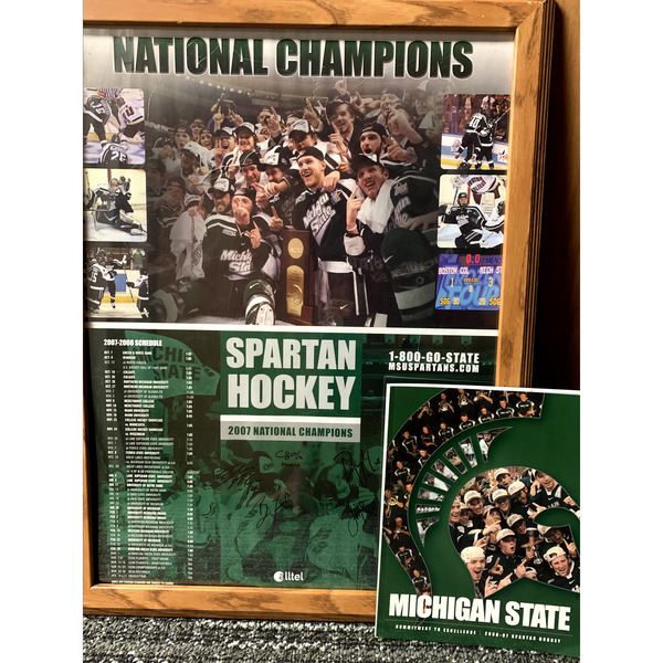 Photo of 2006-07 Autographed Media Guide, 2007-08 Autographed Poster and GLI Champions Framed Photo