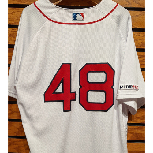 Photo of Andrew Cashner #48 Team Issued Home White Jersey