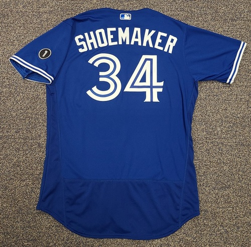 Photo of Authenticated Team Issued Jersey: #34 Matt Shoemaker (2020 Season). Set 2. Size 48.