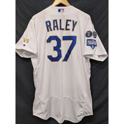 Photo of Luke Raley Game-Used Gold Trim Re-Opening Day Jersey - 6/15/21