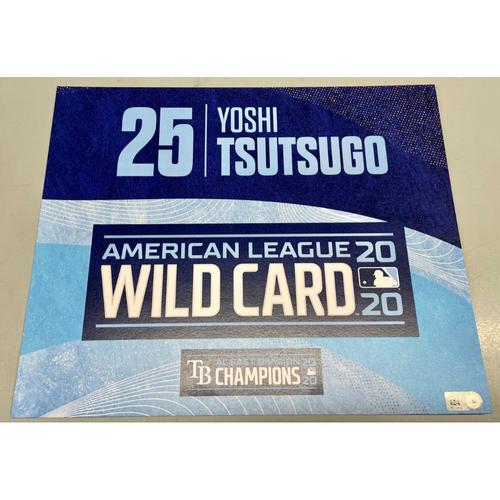 Photo of Team Issued ALWCS Locker Tag: Yoshitomo Tsutsugo - 2020 Postseason