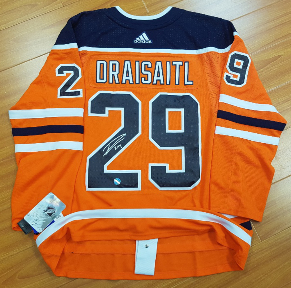 Leon Draisaitl Edmonton Oilers Autographed Adidas Authentic Hockey Jersey *Autograph Slightly Smudged*