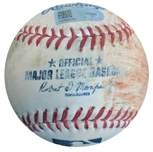 Photo of Game-Used Baseball from Pirates vs. Giants on 8/20/15 - Kelby Tomlinson Single
