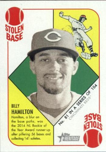 Photo of 2015 Topps Heritage '51 Collection #81 Billy Hamilton