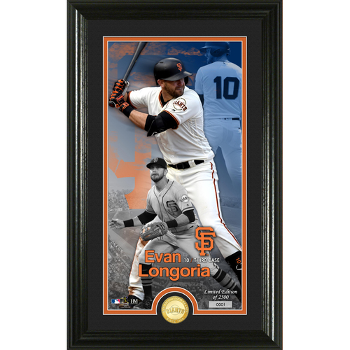 Photo of Serial #1! Evan Longoria Supreme Bronze Coin Photo Mint