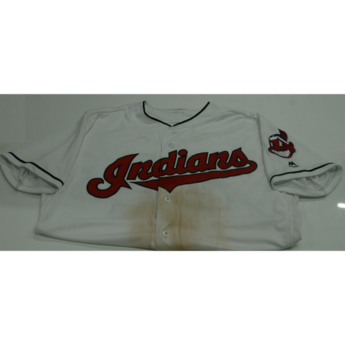 Photo of Cleveland Indians Adam Plutko 2017 Game Used Jersey - 4/15/17 vs. Tigers