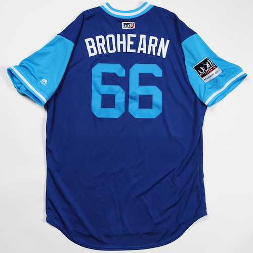 "Photo of Ryan ""Brohearn"" O'Hearn Kansas City Royals Game-Used Jersey 2018 Players' Weekend Jersey"