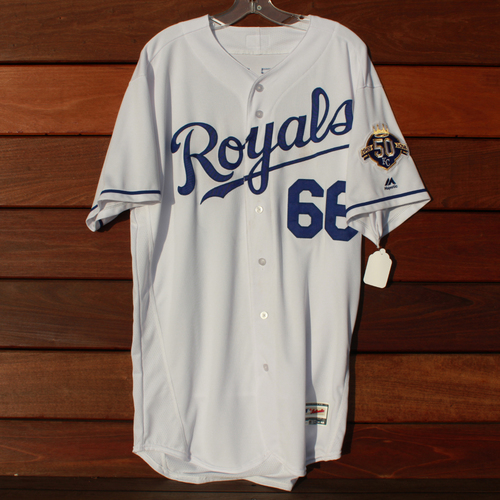 Photo of Game-Used Jersey: Ryan O'Hearn 37th Career Hit (Size 48 - CLE @ KC - 9/27/18)