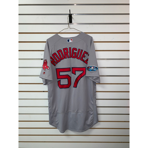 Photo of Eduardo Rodriguez Game Used October 8th & October 16th, 2018 Road Jersey