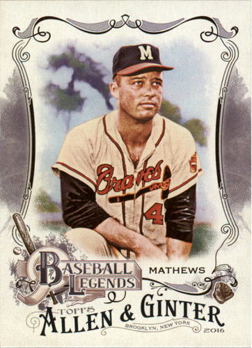 Photo of 2016 Topps Allen and Ginter Baseball Legends #BL25 Eddie Mathews