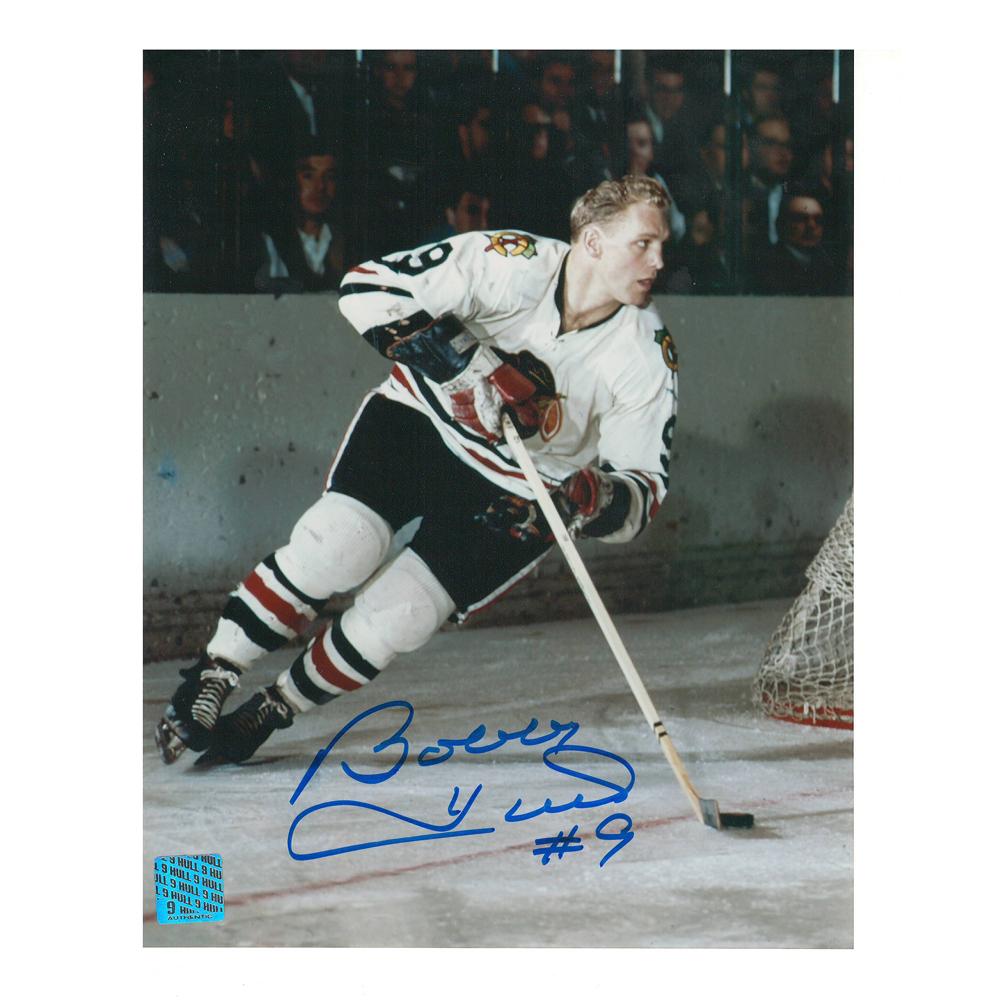 BOBBY HULL Signed Chicago Blackhawks 8 X 10 Photo - 70025