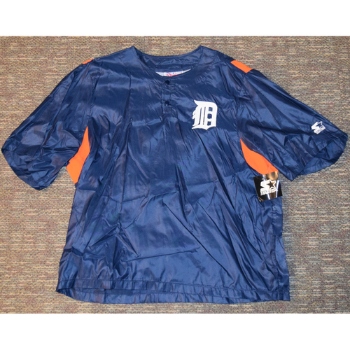 Photo of Detroit Tigers Blue Pullover Windbreaker (NOT MLB AUTHENTICATED)