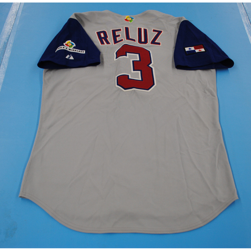 Photo of 2006 Inaugural World Baseball Classic: Anibal Reluz Game-worn Team Panama Road Jersey