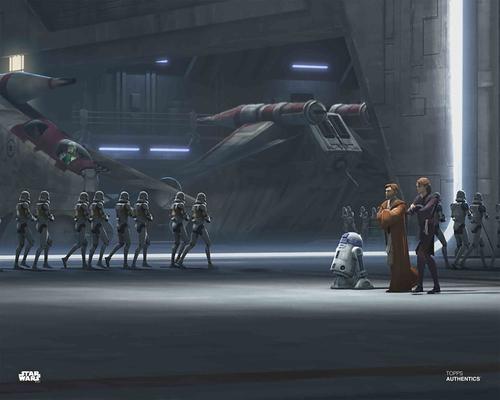 Anakin Skywalker, Obi-Wan Kenobi and Clone Troopers