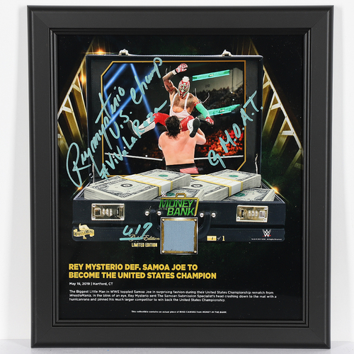 Photo of Rey Mysterio SIGNED Custom 619 Edition Plaque (1 of 1)