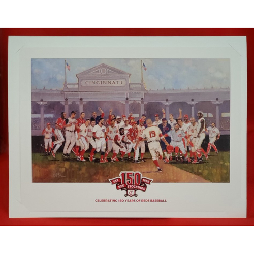 "Photo of Cincinnati Reds 150th Anniversary Celebration Print by Bart Forbes - 10""x13"""