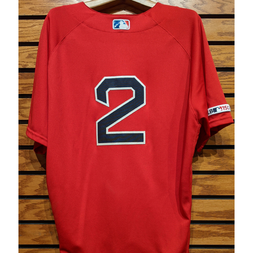 Photo of Xander Bogaerts #2 Game Used Red Home Alternate Jersey