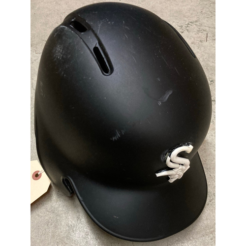 Photo of Black Clubhouse Helmet - #12 - Size 7 3/8 - NOT MLB Authenticated