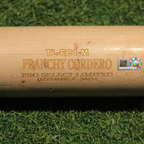 Photo of Game-Used Broken Bat: Franchy Cordero (DET @ KC 9/24/20)
