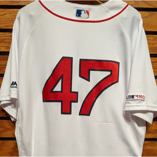 Photo of Tyler Thornburg #47 Team Issued Home White Jersey