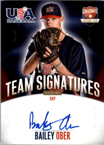 Photo of 2014 USA Baseball Collegiate National Team Signatures #22 Bailey Ober
