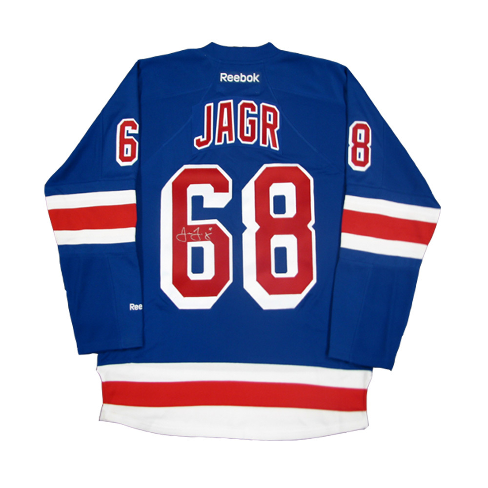 buy popular e65a7 1e172 JAROMIR JAGR Signed New York Rangers Blue Reebok Jersey with ...