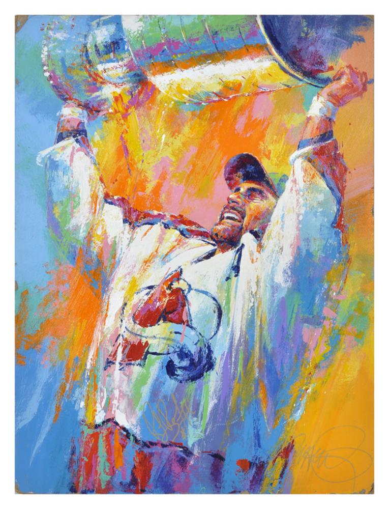 Ray Bourque Colorado Avalanche Original Artwork By Malcolm Farley
