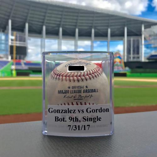 Game-Used Baseball: Dee Gordon breaks Gio Gonzalez No-Hitter