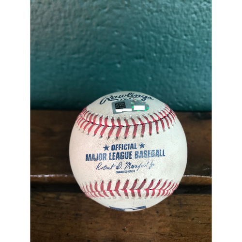 Cardinals Authentics: Game-Used Baseball Pitched by Jordan Hicks to Brandon Guyer *101.1 MPH* *10,000 Win*