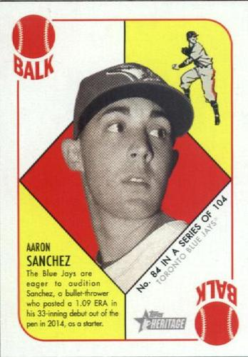 Photo of 2015 Topps Heritage '51 Collection #84 Aaron Sanchez