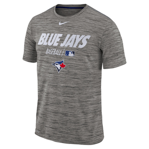 Toronto Blue Jays Authentic Collection Velocity T-Shirt Grey by Nike