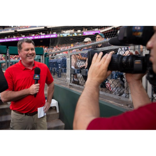 Photo of Shadow Broadcaster Gregg Murphy for a Game on NBC Sports Philadelphia Authentic Fan Night