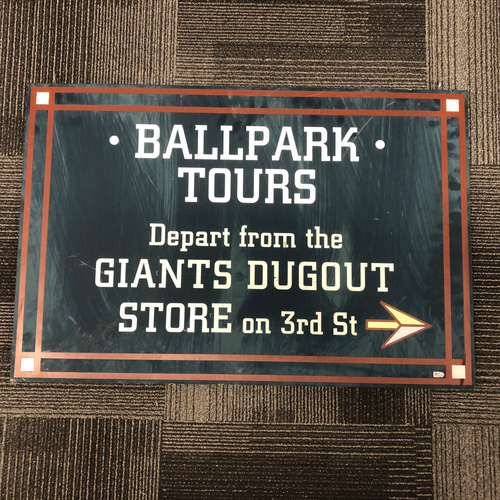 Photo of AT&T Park Ballpark Sign - Ballpark Tours Directional Sign