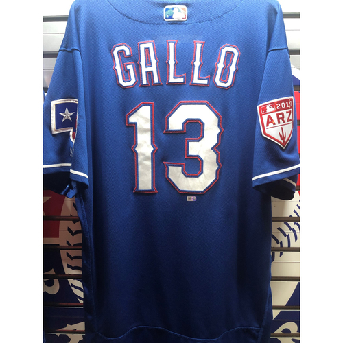 Photo of Joey Gallo Blue Game-Used Spring Training Jersey