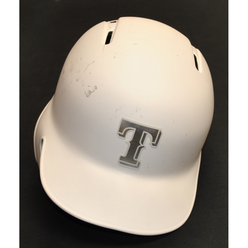 Photo of Nomar Mazara Texas Rangers Team-Issued 2019 Players' Weekend Helmet